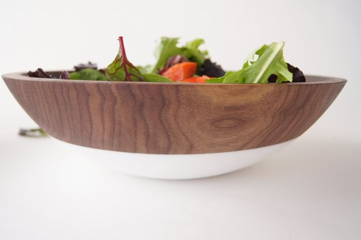 Large 15 inch Wooden Serving Bowl by Wind and Willow Home Walnut Wood salad bowl wooden salad bowl pasta bowl summer entertaining (205.00 USD) by WindandWillowHome