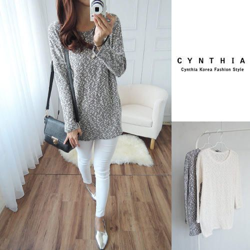Long-Sleeve Knit Top - CYNTHIA | YESSTYLE Canada