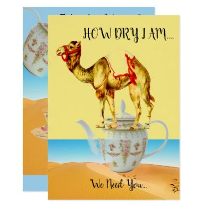 #INVITATION TO A GALA GET TOGETHER TEA PARTY - #birthday #invitations