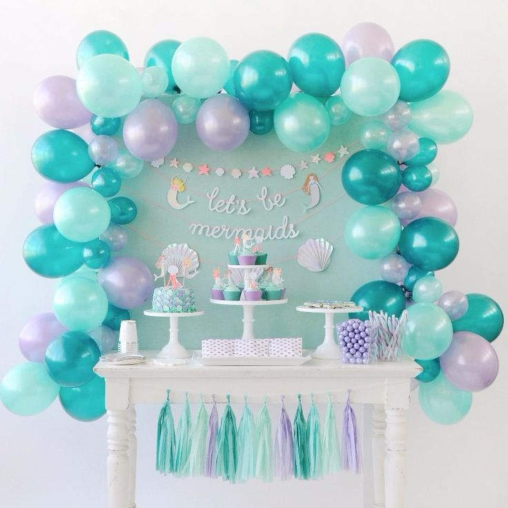 Let S Be Mermaids Balloon Garland Kit Mermaid Party In