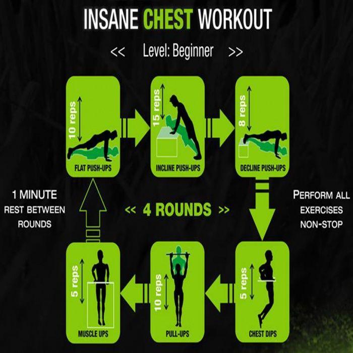Insane Chest Workout For Beginner - Fitness Training Plan Level