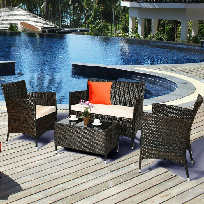 Beautiful Patio Design Ideas For Outdoor Living And Relaxation Wicker Outdoor Furniture Set Patio Furniture Sets Outdoor Wicker Furniture
