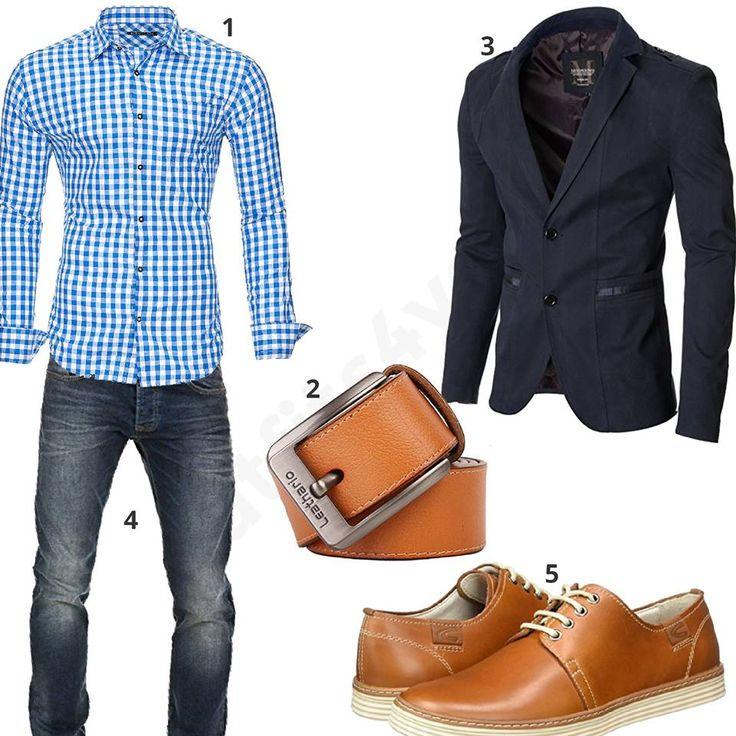 Business-Outfit Herren mit Sakko und Hemd