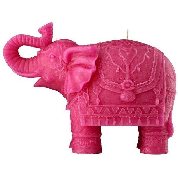 MARIO LUCA GIUSTI Elephant Shaped Candle - Fuchsia found on Polyvore