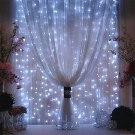 agptek 3mx3m 300led string light curtain light for christmas xmas wedding party home decoration