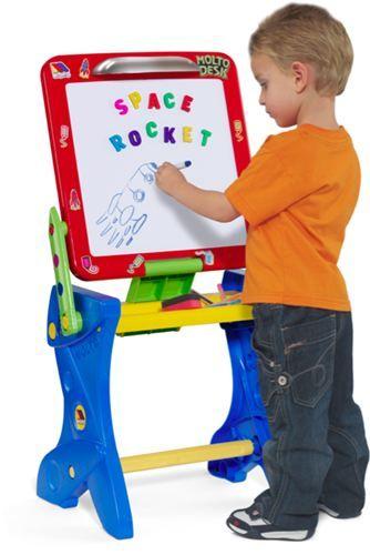 Moltó Juguetes 11073- Pizarra y pupitre magnética de plástico, IndalChess.com Tienda de juguetes online y juegos de jardin