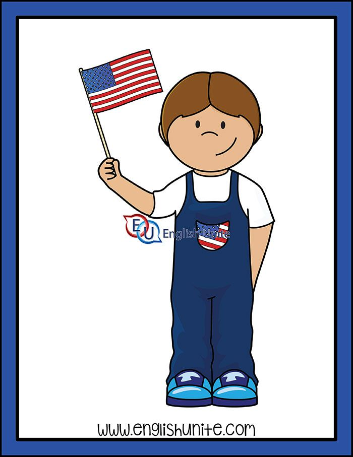 Presidents Day Boy With American Flag English Unite American Flag Clip Art Kids Clipart