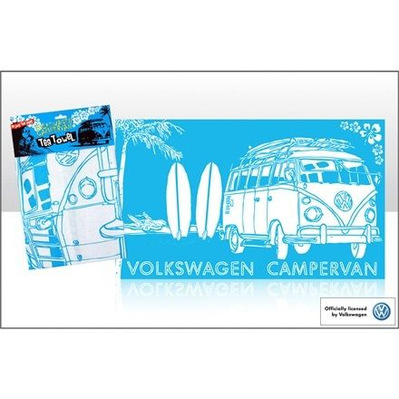 Campervan Gift - VW Campervan Surf Sketch Blue Tea Towel, £5.95 (http://www.campervangift.co.uk/vw-campervan-surf-sketch-blue-tea-towel/)