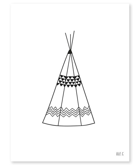 Poster Lilipinso Tipi 30x40cm