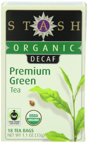 Stash Tea Company Organic Decaf Premium Green Tea, 18 Count Tea Bags in Foil (Pack of 6) - http://goodvibeorganics.com/stash-tea-company-organic-decaf-premium-green-tea-18-count-tea-bags-in-foil-pack-of-6/