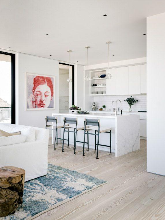 cuisine avec sol parquet clair