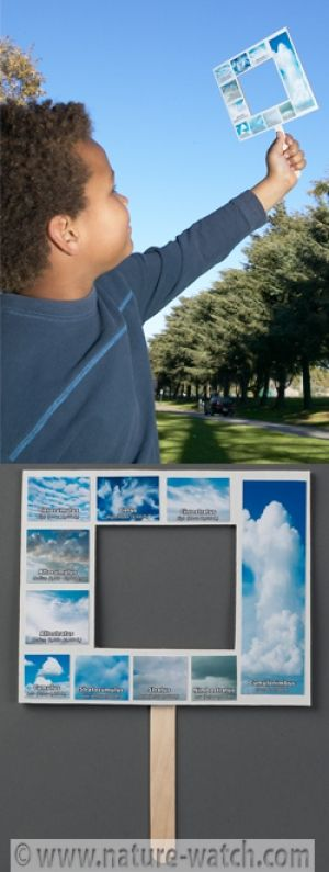 Here's a great way to teach about cloud identification and classification! Each child makes their own Nature-Watch Weather Window - a hand-held frame with a variety of cloud types classified by altitude. Kit includes cardboard frames and cloud pictures. Participants will cut out each picture and glue them onto their very own Weather Window! Then, head outside and match real clouds to the photos. Identify the cloud type and discuss what type of weather might follow as a result.   Our ...
