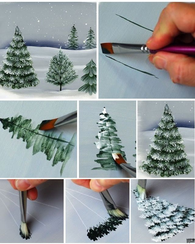 Anleitung Tannenbäume