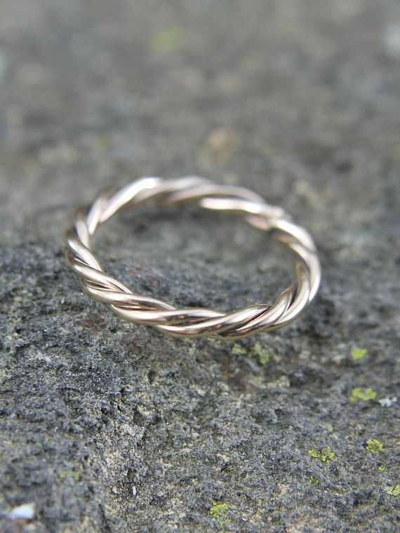 14K Gold Fill Ring Twisted, Braided, Viking, Celtic, Tribal Twist Design Mens or Ladies Ring, Size 4 to 15, Gift for Him or Her
