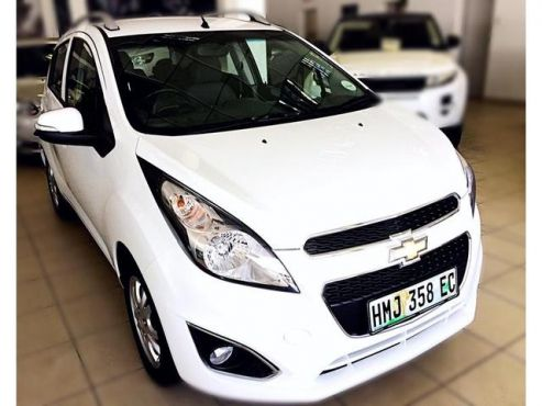 This spunky car is a great beginner car. Safe, reliable and stylish. All the added benefits will make you feel spoilt and this all comes at an incredible price.  2015 Chevrolet Spark 1.2 LS with only 25 429kms for R 119 900 - Silver Roof Rails - Cloth Upholstery - Alloy Wheels - Air con - Steering Controls - Radio/CD/MP3 + USB Input - Colour Coded Bumpers and Mirrors - Electric windows all Around - Electric mirrors - Air con - Airbags . Karen: 0845406178