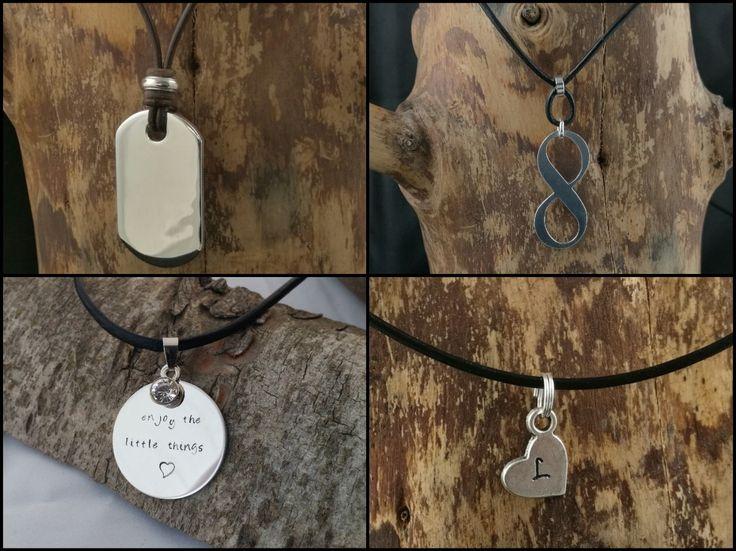 Metal stamping necklace