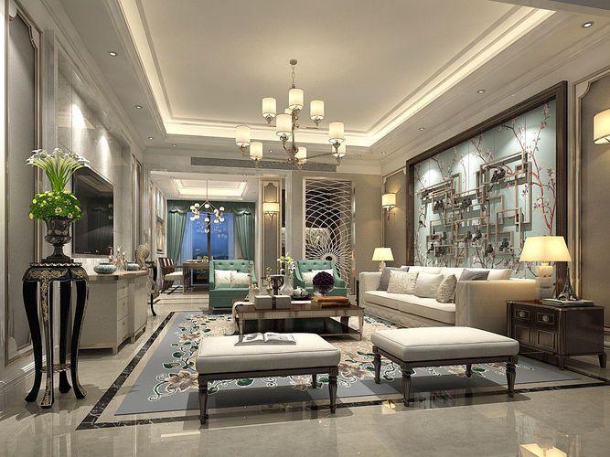European Style Living Room Design 3d Model Max 1 Luxury House Interior Design Country Interior Design Interior Design