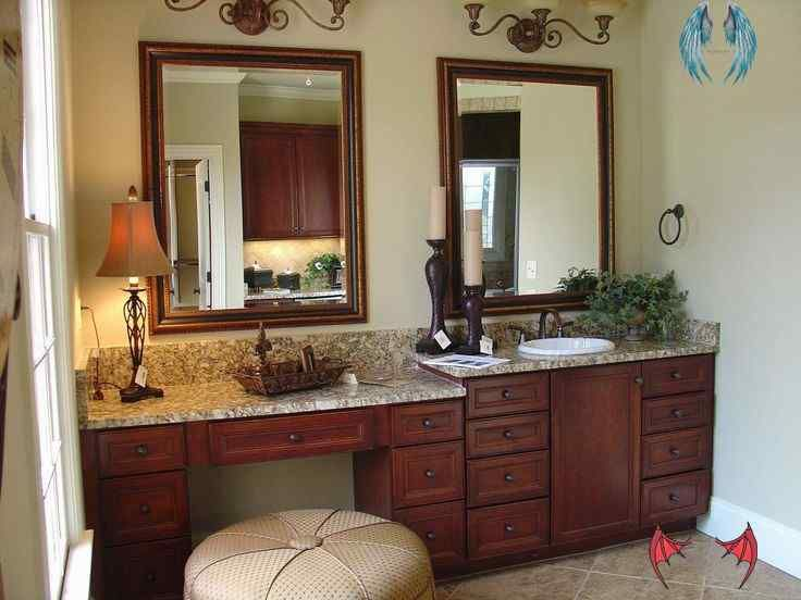 21 elegant master bathroom vanity with makeup area 21 on vanity for bathroom id=37932