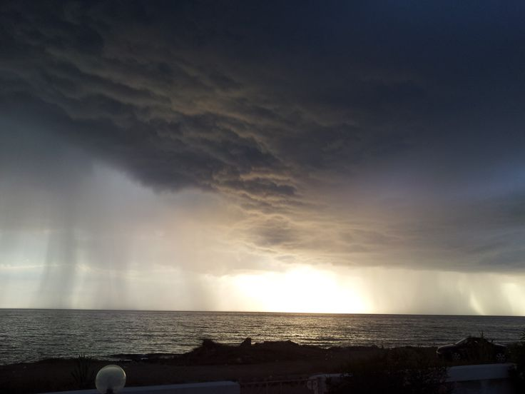 Rainstorm on the Ionian Sea