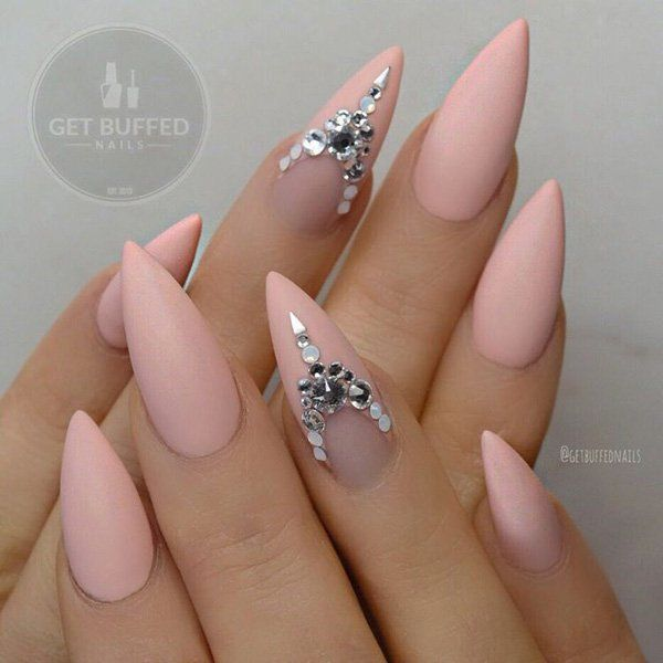 LATEST ALMOND NAIL DESIGNS 207 - styles outfits