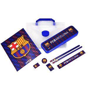 Offizielles Fußball-Team Tragetasche 8-teiliges Schreibwaren-Set, verschiedene Mannschaften zur Auswahl, perfekt Geschenk für zu Hause, in der Schule oder Freizeit