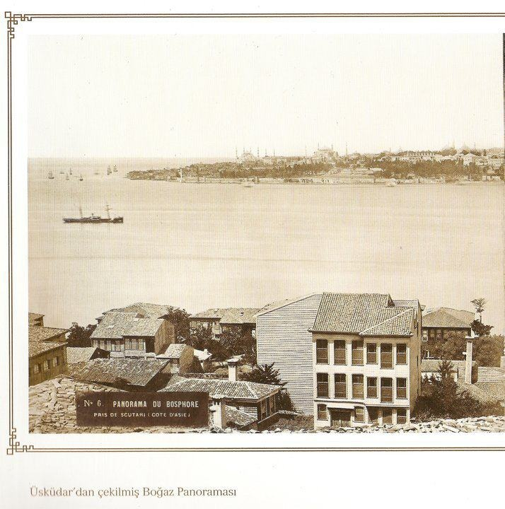Istanbul, photo taken in 19th century from Uskudar
