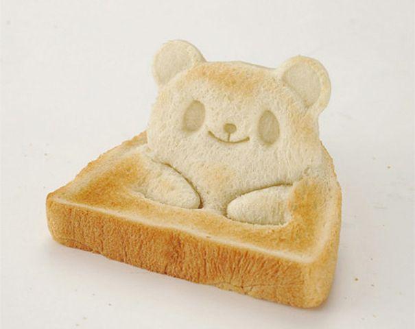 Adorable Japanese Teddy Bear Toast Stamp