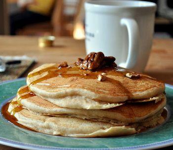 Baking Bites/ Whole Grain Banana Nut Pancakes