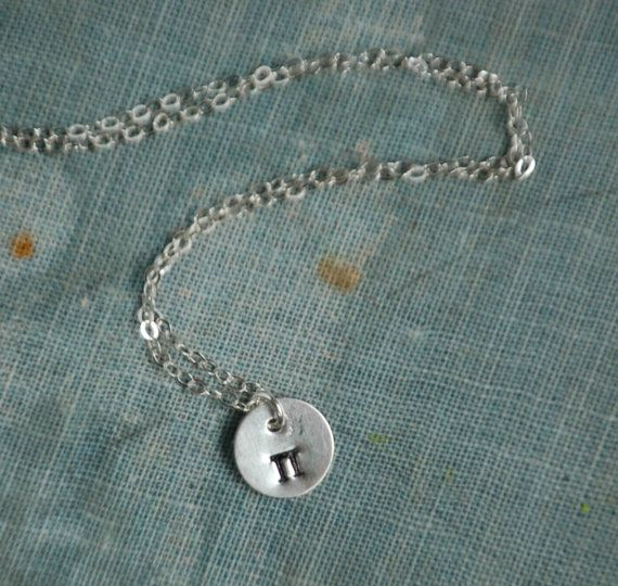How about a little pi? - - - - Tiny Pi Sterling Silver NECKLACE