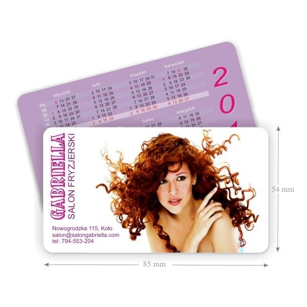 Wizytówki w formie kart plastikowych