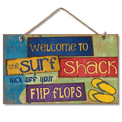 New-Tropical-Beach-Surf-Shack-Sign-Flip-Flops-Wall-Decor-Novelty-Coastal-Plaque