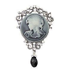la mode antique argent millésime Broche broches bijoux reine strass eau chute broches des femmes pour les femmes cadeau