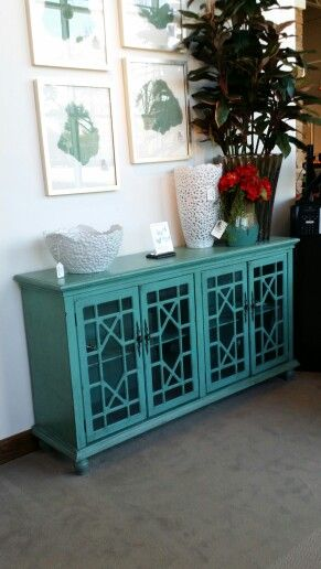 Rooms To Go -- Teal Credenza