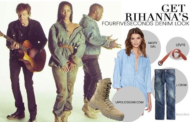 Get Rihanna's FourFiveSeconds Video Denim Look