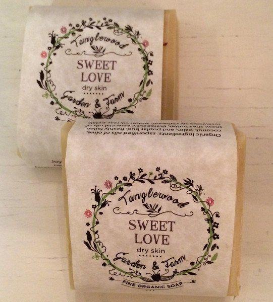 Tanglewood Organic Soap - Sweet Love - $4