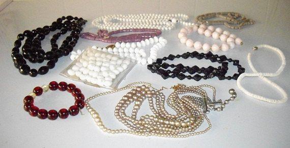 Jewelry Supply Destash beads mosaic supplies red by designfrills, $8.00