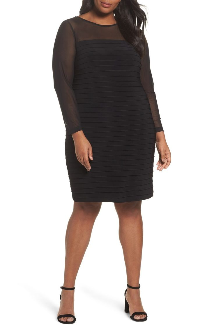 Main Image - Adrianna Papell Pintuck Sheath Dress (Plus Size)