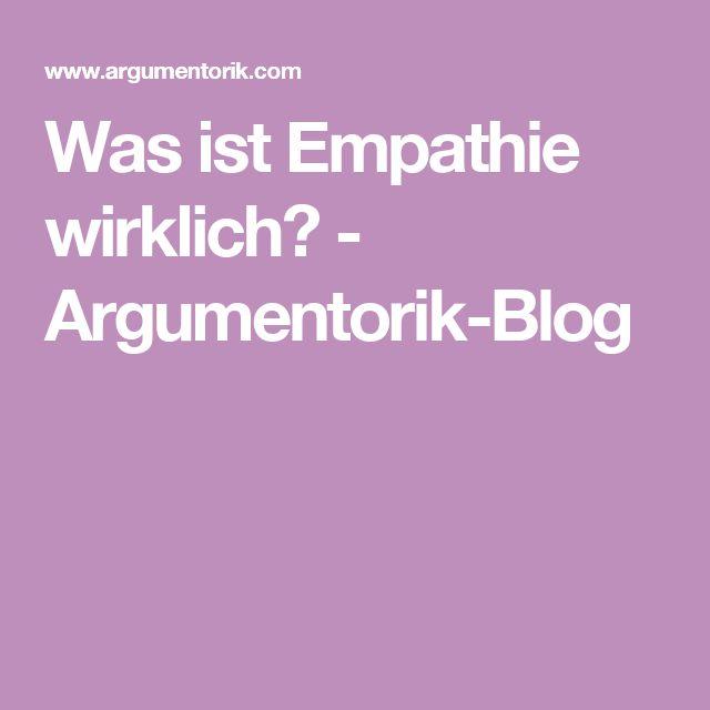 Was ist Empathie wirklich? - Argumentorik-Blog