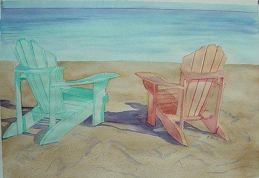 Beach Chairs by Katherine  Berlin