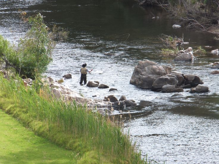 Fly fishing below River's Edge cottage