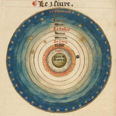 Oronce Fine, Le sphere de monde: proprement dicte Cosmographie: manuscript, 1549, MS Typ 57. Houghton Library, Harvard University, Cambridge, Mass.