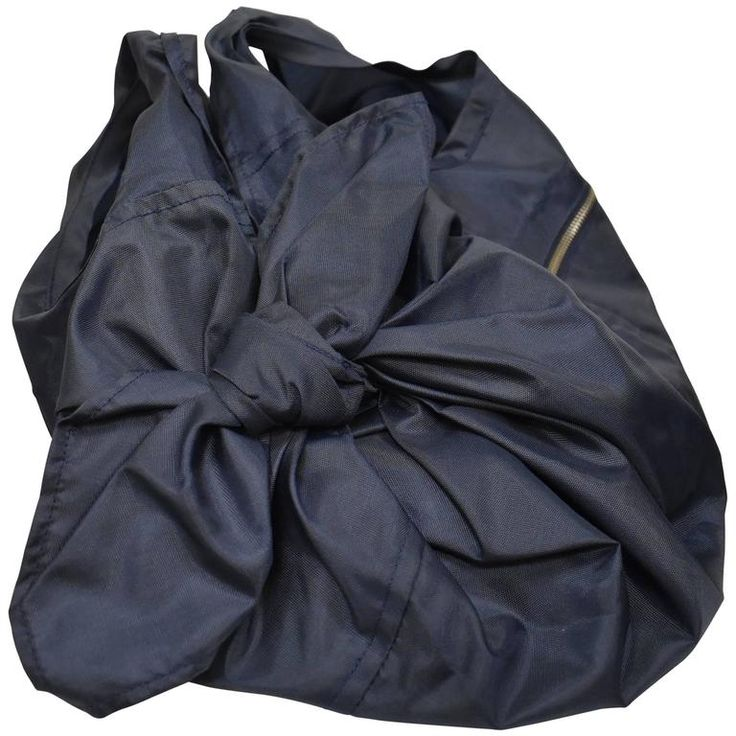 Comme Des Garcons Navy Tie Bag | From a collection of rare vintage novelty bags at https://www.1stdibs.com/fashion/handbags-purses-bags/novelty-bags/