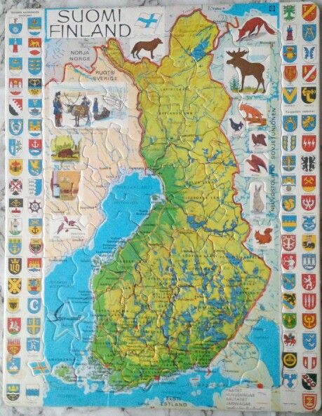 Map of Finland puzzle