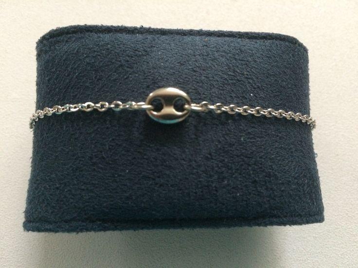 Bracelet chaîne connecteur grain de café en acier inoxydable : Bracelet par chezchris