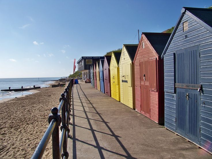Beach huts on Mundesley