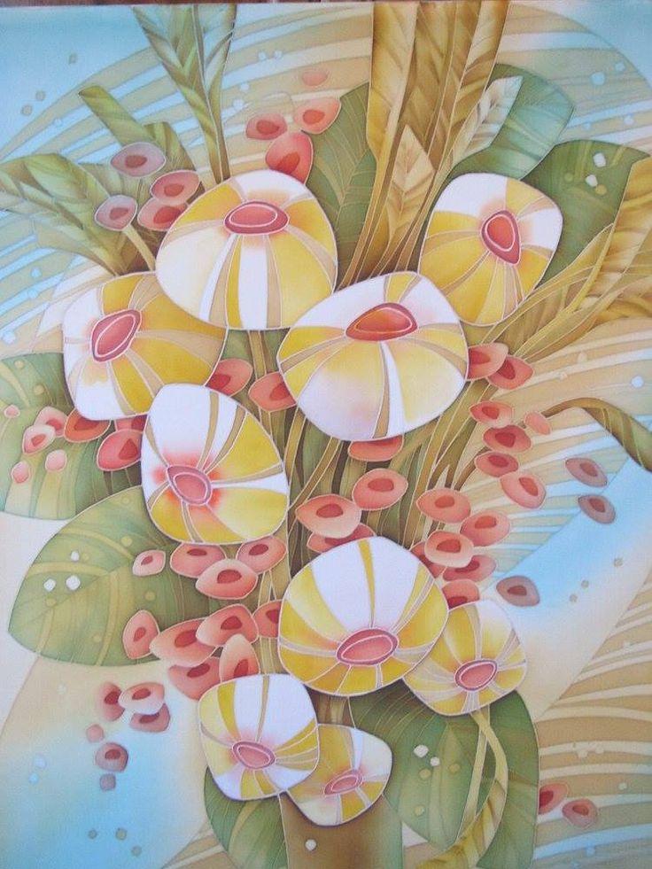 Silk Square Scarf - abstract ink flowers by VIDA VIDA ZhLOH6BJa