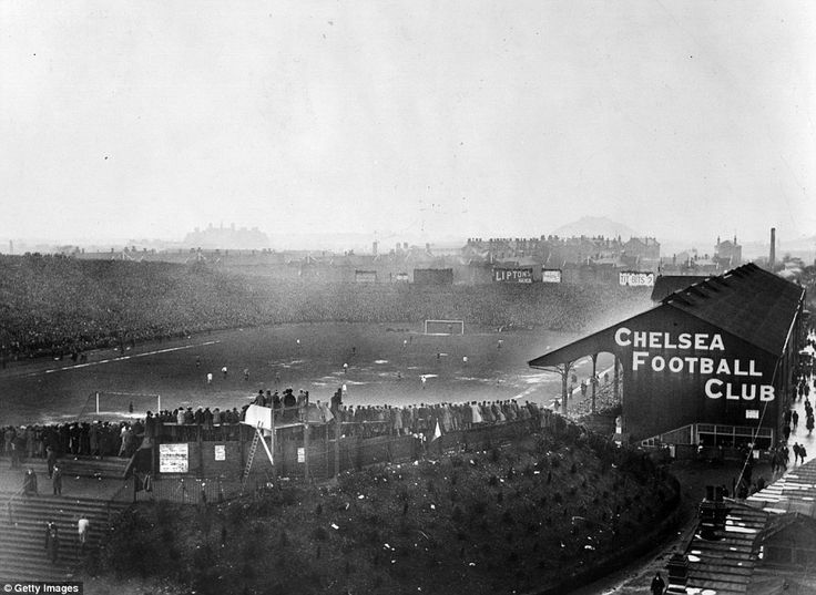 Stamford Bridge was considered such a prestigious venue, it held three FA Cup finals between 1920 and 1922, immediately before the opening of Wembley Stadium. This picture shows the scene at the 1921 final between Tottenham Hotspur and Wolverhampton Wanderers. The huge crowd of 72,805 saw Tottenham's Jimmy Dimmock score the only goal.