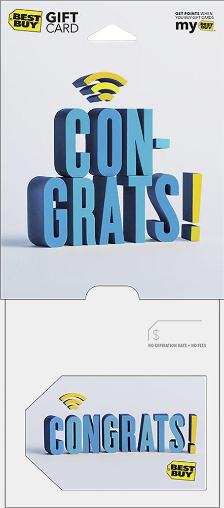 Best Buy GC - $500 Congratulations Gift Card, 9006499