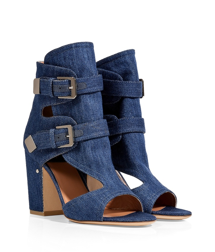 LAURENCE DACADE omg, i don't usually like the styling or jean shoes, but the combo sort of pushes through weird into cute.