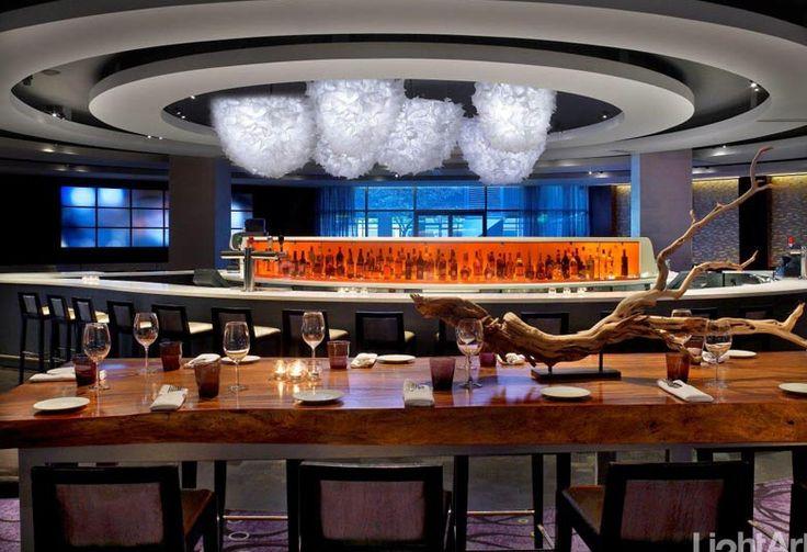 3form Hydrangea Chandelier installation at Hyatt Regency #MaterialRepublic #3form #Lighting #InteriorDesign